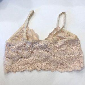 db47443a4c1f64 AKIRA Intimates   Sleepwear - Akira Cream Lace Bralette